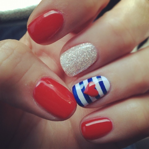 Red, White & Blue Nails
