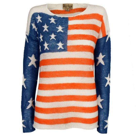Wildfox USA Flag Sweater